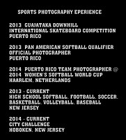 SPORTS PHOTOGRAPHY RESUME